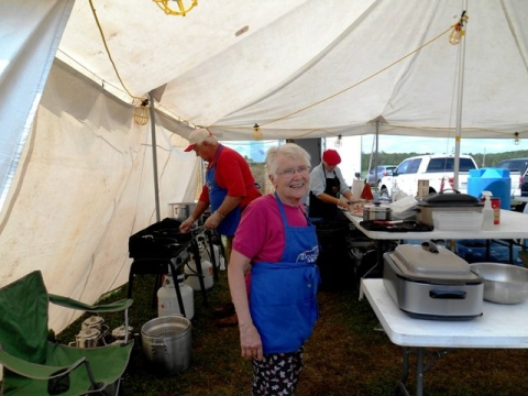 Volunteer Thelma Johnson has donated over 2,000 hours of her own time to cook and serve meals to volunteers
