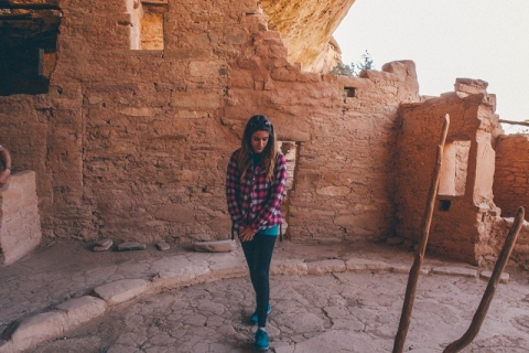 Tori looking down at Mesa Verde