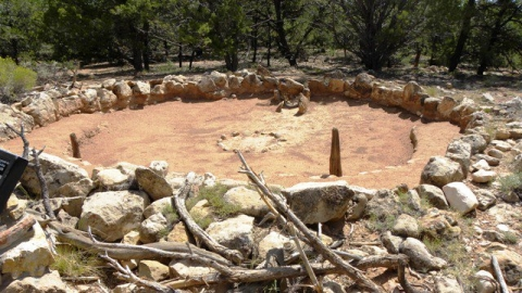 The ruins of the Tusayan Pueblo off the Desert View road