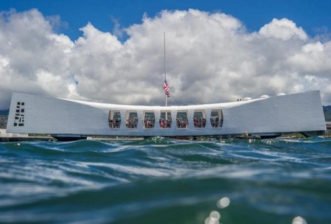 USS Arizona Memorial at World War II Valor in the Pacific National Monument