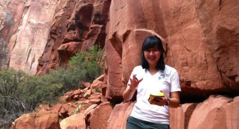Image of park ranger Veronica in Zion National Park