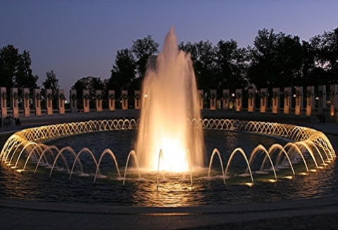 WWII Memorial site and fountain