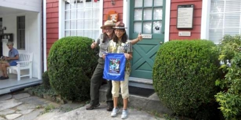 Weir Farm, Ranger Kristin Lessard with a junior ranger