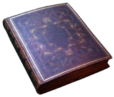gold-gilded leather-bound cover of the Mendi Bible