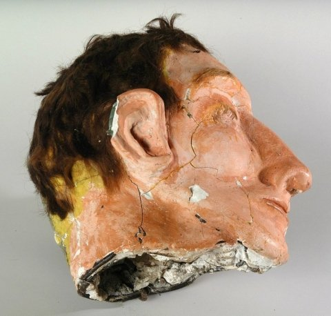 Clarence Anglin's fake head at Alcatraz Island