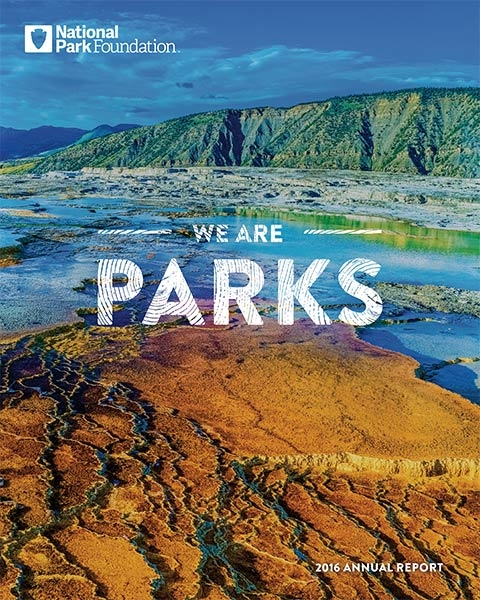 National Park Foundation Annual Report cover 2016