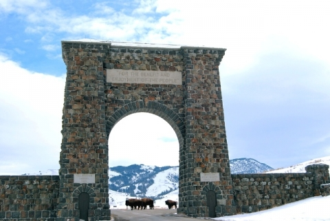 Historic Roosevelt Arch Entrance at Yellowstone