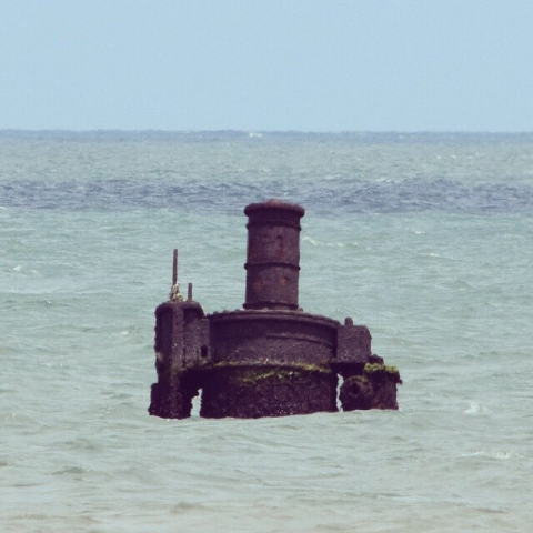 Smokestack of the Oriental shipwreck at Cape Hatteras National Seashore