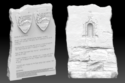 3D prints that the University of South Florida is printing for Castillo de San Marcos with Braille for the students at Florida School for the Deaf and Blind