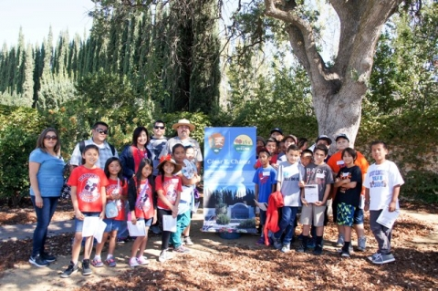 Superintendent Ruben Andrade (the park's only National Park Service employee), led the students through a tour of the exhibits and a guided walk of the memorial and desert gardens at César E. Chávez National Monument