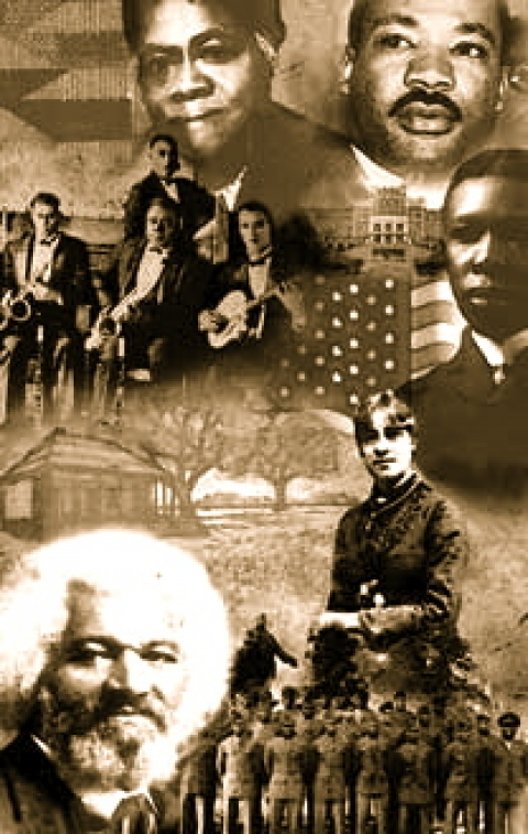 Collage of famous black leaders for Black History Month