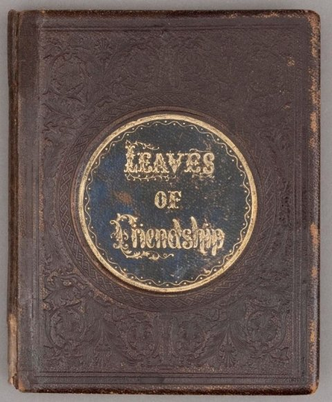 leather bound Leaves of Friendship book of dried seaweed at Dry Tortugas National Park