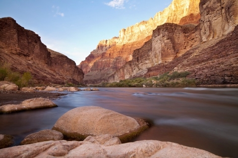 Colorado river at the bottom of grand canyon