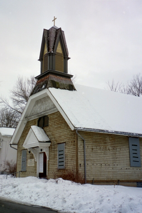 A snowy Thompson A.M.E. Zion Church