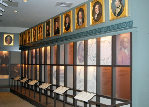 Exhibits and displays in Peale's Museum section of the Second Bank