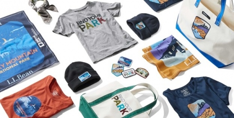 An array of cobranded products from NPF and L.L.Bean