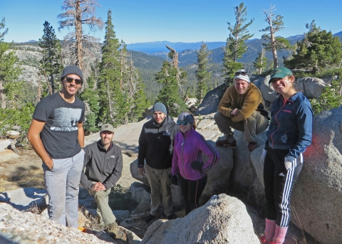 Latino Outdoors Family backpacking trip at Carson Pass