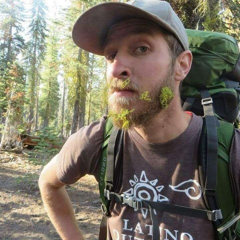 Eduardo of Latino Outdoors shows off his lichen beard