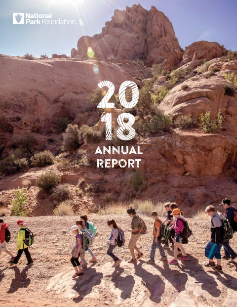 National Park Foundation 2018 annual report cover