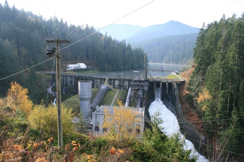 Elwha Dam in Olympic National Park in 2008 Before Deconstruction
