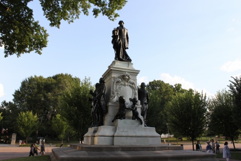 A close-up shot of Lafayette Statue in President's Park