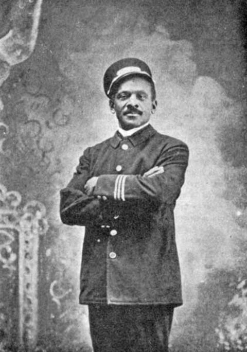 historic black and white photo of a Pullman Porter