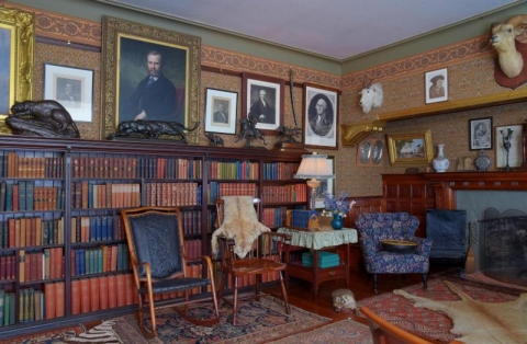 Library inside Sagamore Hill National Historic Site