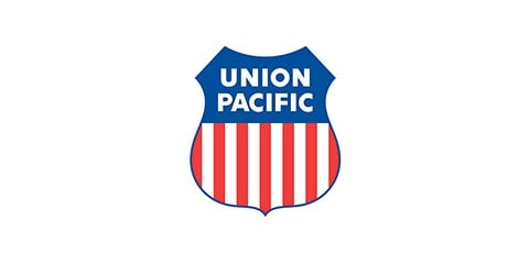 Union Pacific logo on a white background