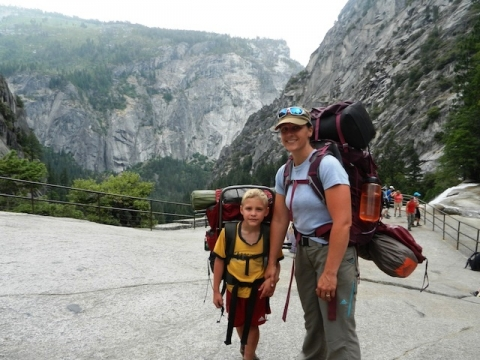 Amy Whitley and her family at Yosemite Park