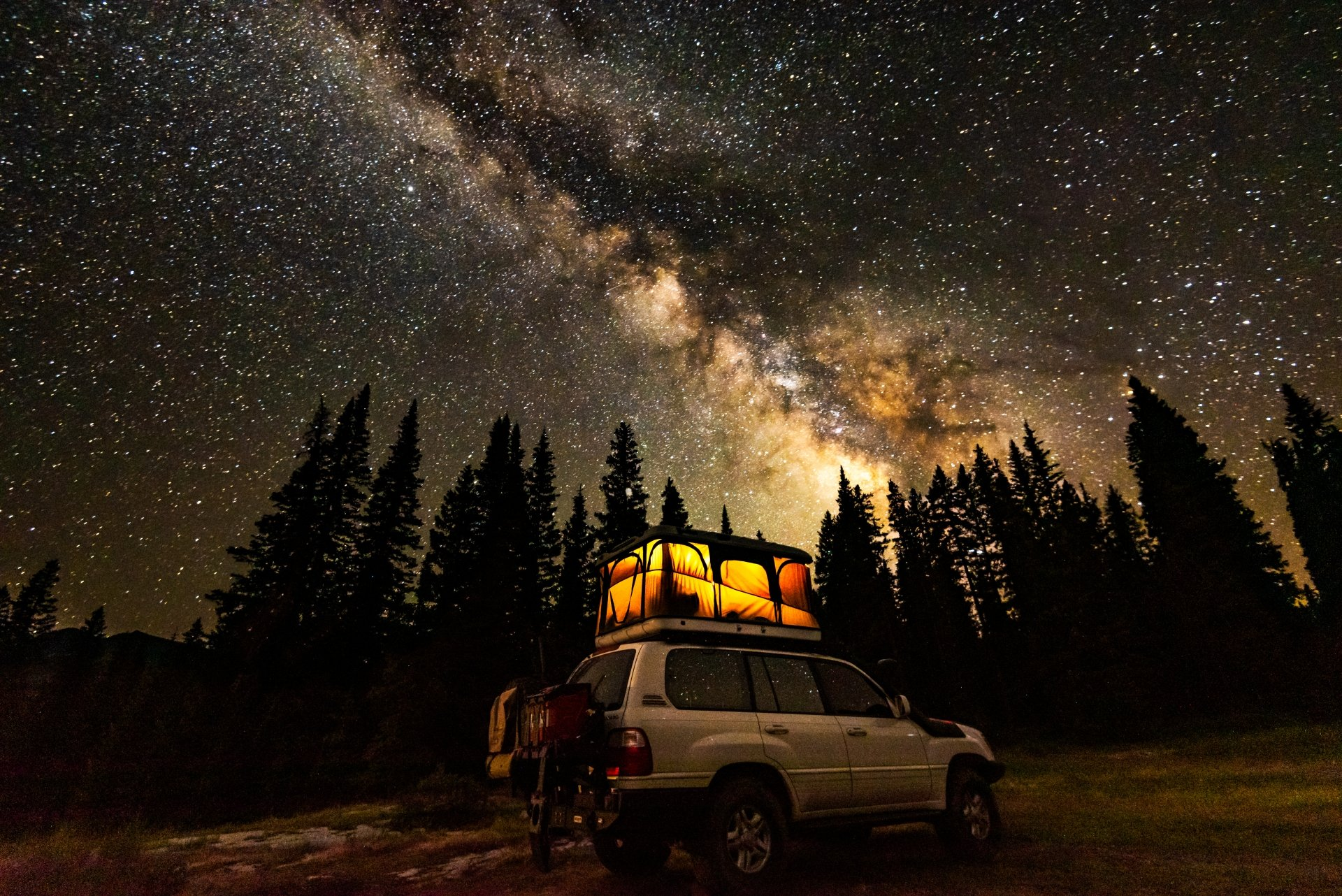 Starry skies in San Juan National Forest