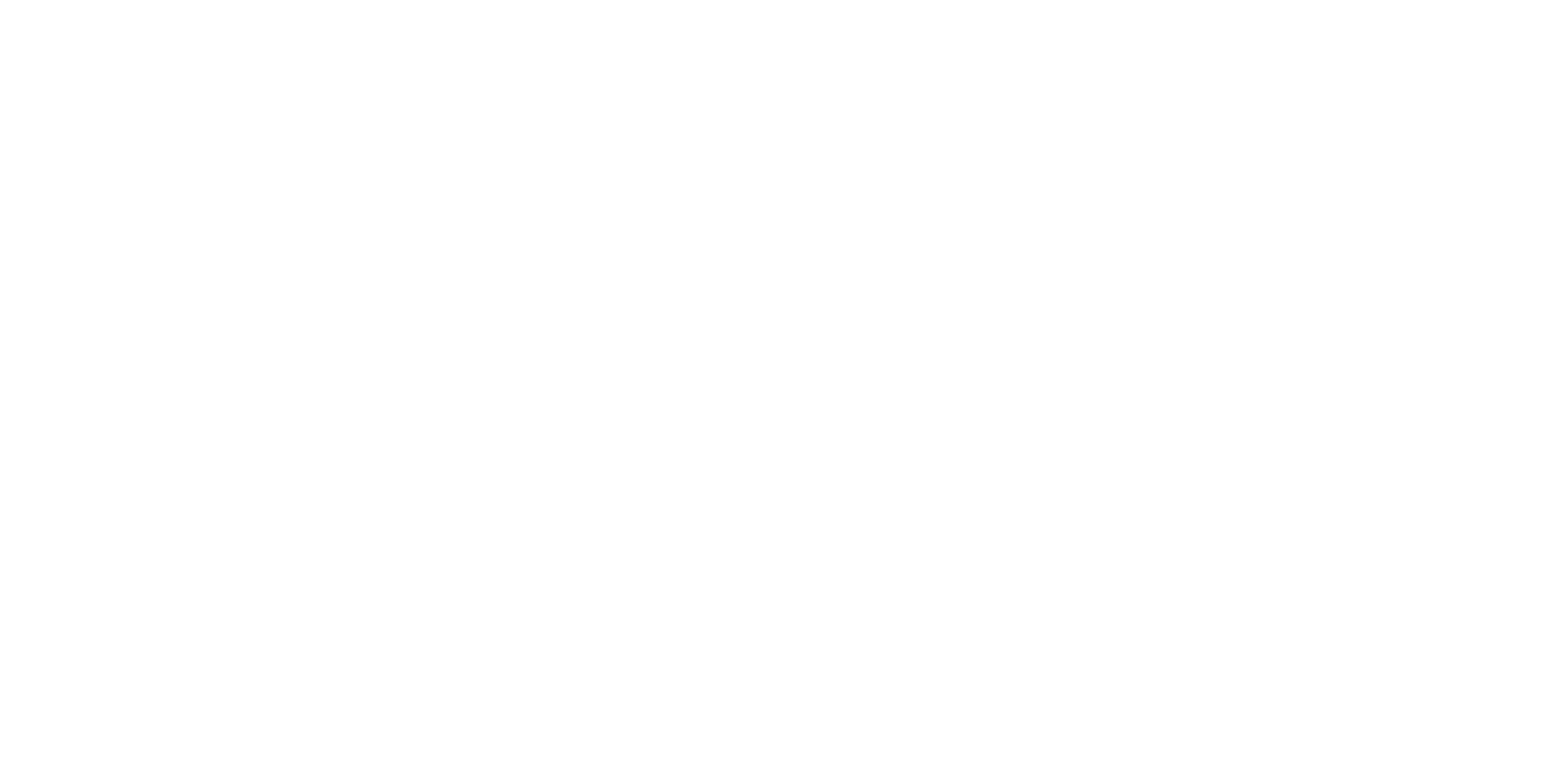 African American History and Culture word mark logo in white