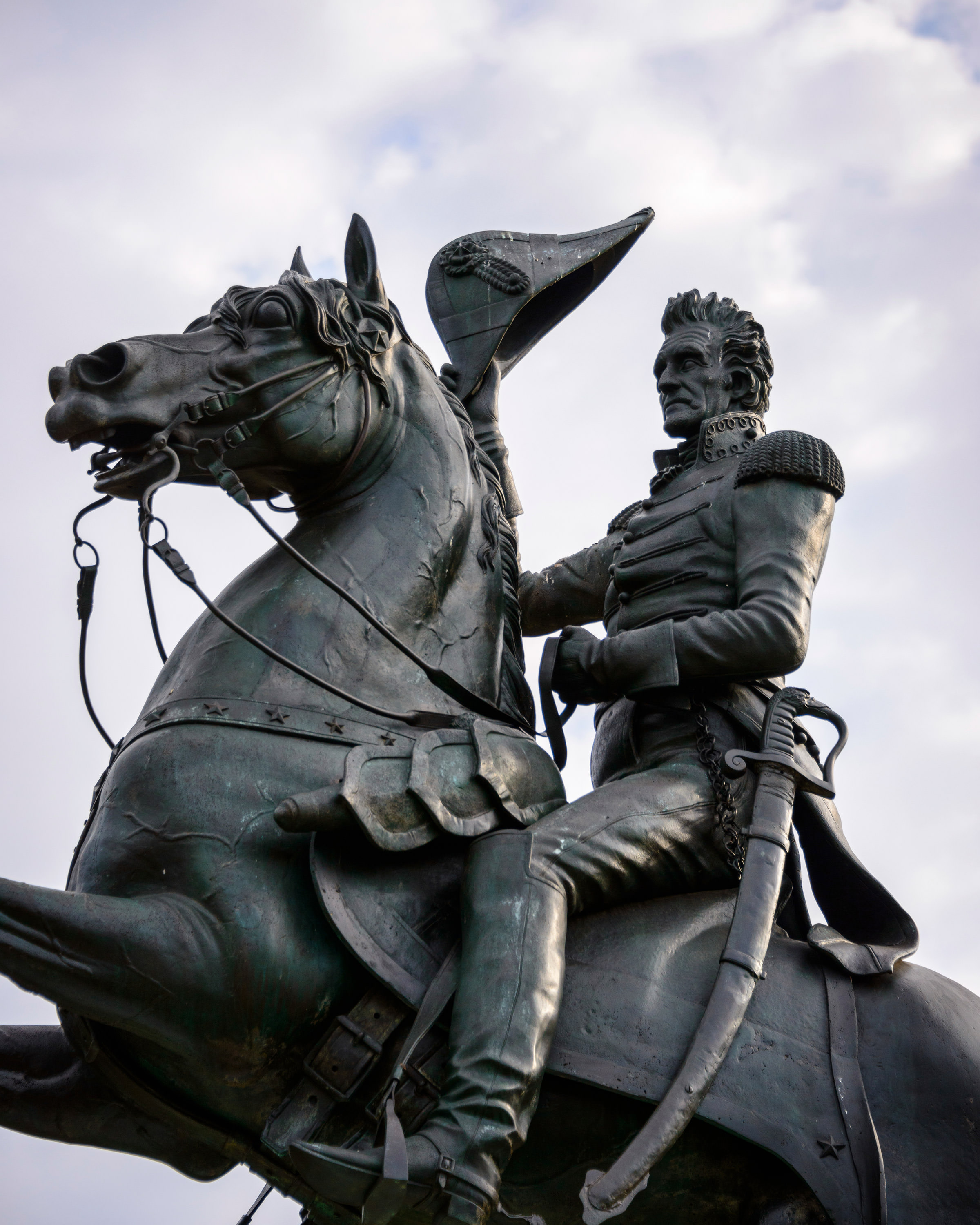 This statue of Andrew Jackson is in front of the White House.